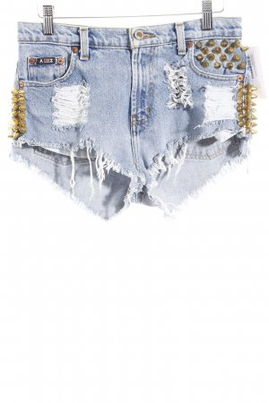 Arizona Jeansshorts hellblau Destroy-Optik
