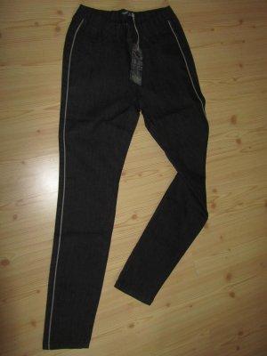 ARIZONA: Jeggings schwarz mit grauem Seitenstreifen, Gr. 40, Neu