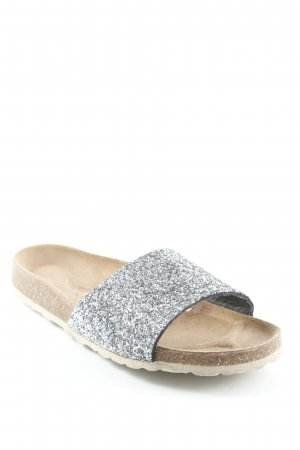 Arizona Comfort Sandals light brown-silver-colored glittery