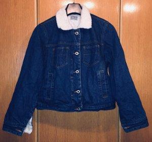 Arizona Kurz-Jeans-Jacke mit Teddyfell