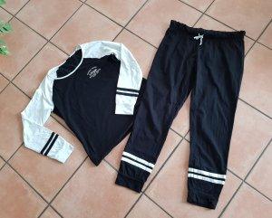 Arizona Pijama negro-blanco puro Algodón