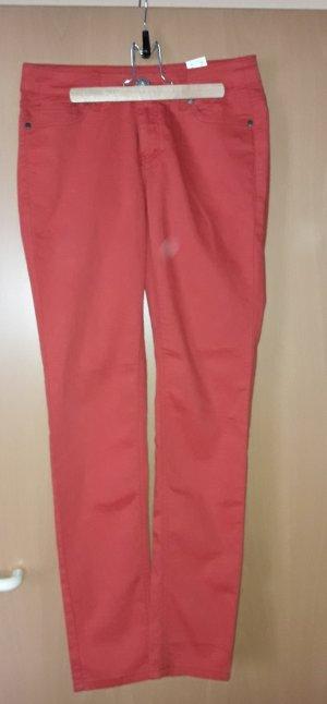 Arizona:  Röhren Jeans Lachsfarbig- apricot Größe 38, eher 36