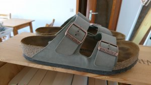 Birkenstock Comfort Sandals grey brown leather