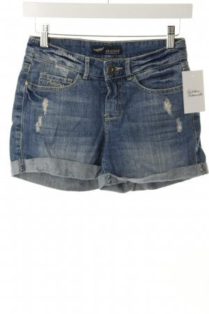 Arizona Shorts stahlblau Destroy-Optik