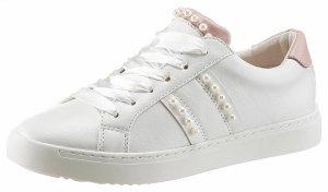 Arizona Sneaker mit Schmuckperlen verziert Weiß Rosa 39