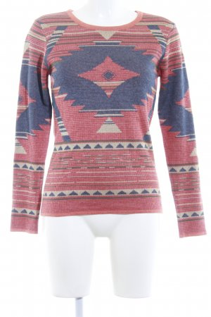 Arizona Strickpullover Aztekenmuster Casual-Look