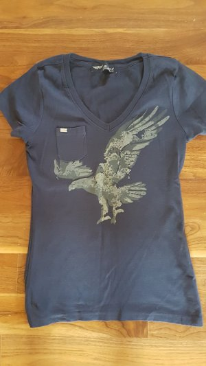 Arizona T-shirt wit-donkerblauw