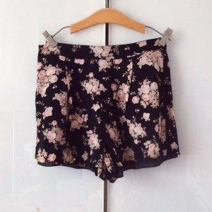 Pantalone a vita bassa nero-rosa chiaro