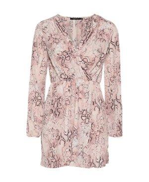 Ark & Co Kleid Animalprint Rosa Pink Lila Gr. M/38