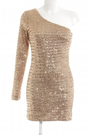 Ark & Co Sequin Dress rose-gold-coloured extravagant style