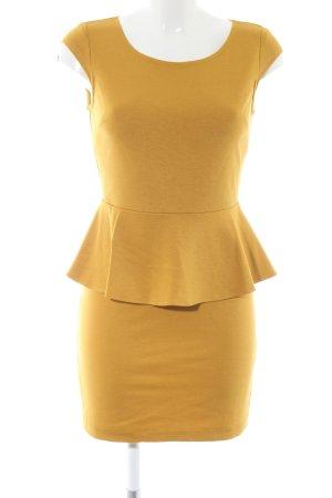 Ark & Co Peplum jurk licht Oranje casual uitstraling