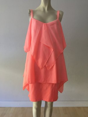 Arlette Kaballo Cocktail Dress neon pink cotton
