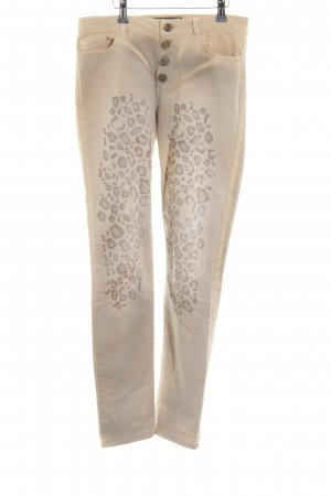 Arlette Kaballo Slim Jeans natural white leopard pattern casual look