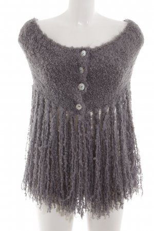 Arlette Kaballo Knitted Poncho lilac party style