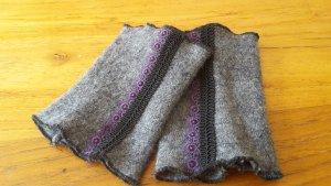 Arm Stulpen Tracht grau lila