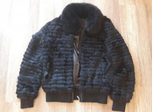 Arma Collection Fell Pelz Fur Pelzjacke Bomberjacke Leder Blouson 36