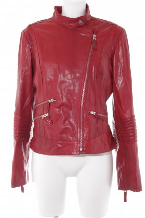 Arma Collection Lederjacke dunkelrot Casual-Look