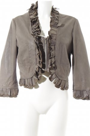 Arma Collection Lederjacke graubraun Casual-Look