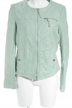 Arma Collection Chaqueta de cuero menta Estilo ciclista