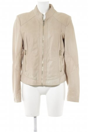 Arma Collection Chaqueta de cuero nude look casual