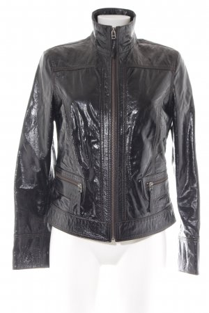 Arma Collection Lederjacke schwarz-cognac extravaganter Stil