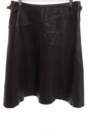 Arma Collection Leather Skirt dark brown business style