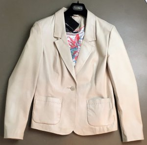 Arma Collection Leather Blazer natural white-oatmeal leather