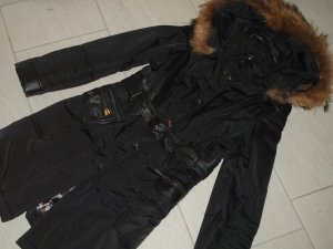 ARMA Collection Steppmantel mit Leder und Fellbesatz Gr.34/36