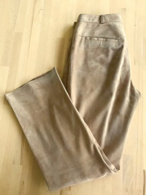 Arma Collection Pantalon en cuir beige clair-chameau cuir