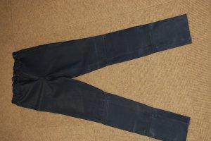Arma Collection Pantalón de cuero azul oscuro Cuero