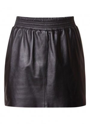 Arma Collection Leather Skirt black leather