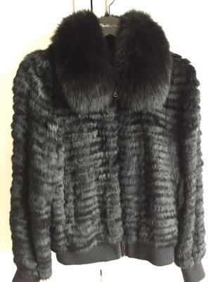 Arma Collection Veste de fourrure noir pelage