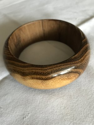 Bangle light brown-bronze-colored wood