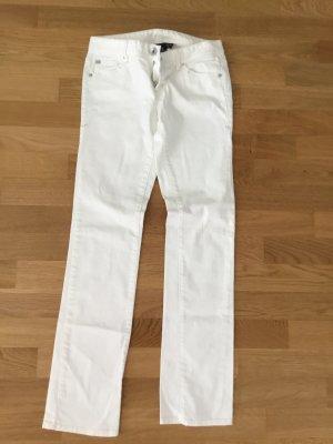 Armani Exchange Boot Cut Jeans white