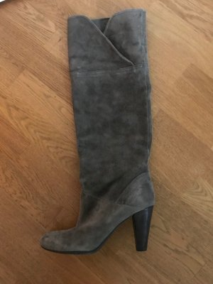 Botas con tacón gris