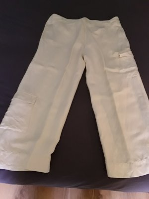 Armani Jeans 7/8 Length Trousers natural white viscose
