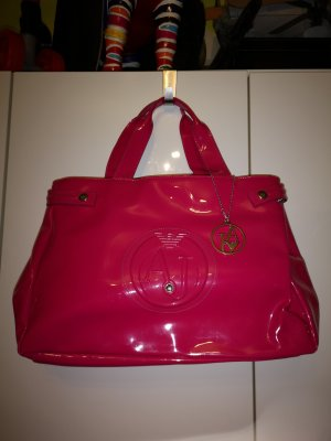 Armani Jeans Carry Bag pink synthetic