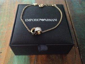 Armani Armband Gold mit Strass Steinchen Silber 925