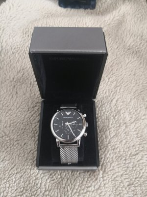Armani Watch With Metal Strap silver-colored