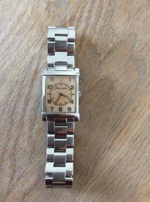 Armani Horloge met metalen riempje camel-zilver Metaal