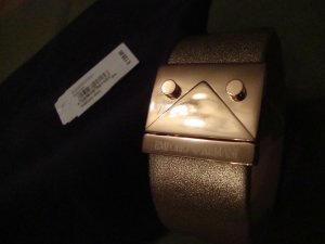 Armani Armreif 100% Original Leder rosegold NEU mit Etikett und Verpackung