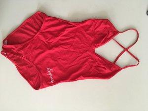 Armani Maillot de bain rouge brique tissu mixte