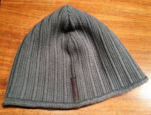 Armani Knitted Hat grey-light grey wool