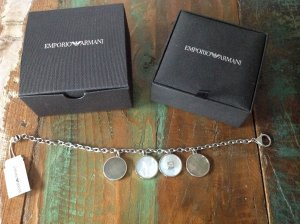 Armani Charm Bracelet light grey-silver-colored real silver