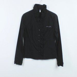 Armani Long Sleeve Blouse black cotton