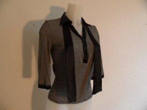 Armani Blusen Shirt Gr. 38/L  Viskose & Seide, Schwarz/ Grau Luxus Pur!