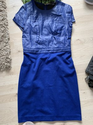 Armani Sheath Dress blue imitation leather