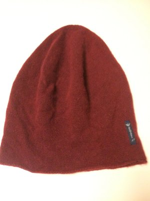 Armani Jeans Knitted Hat brick red