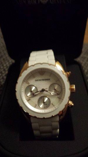 Armani Chronograph mit Silikonarmband