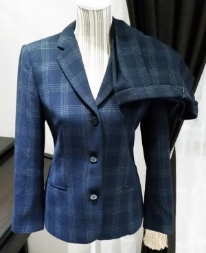 Armani Collezioni Anzug blau 36 42 Schurwolle Damen Jacket Blazer Hose